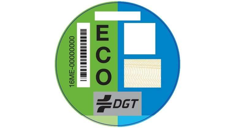 etiqueta de la DGT